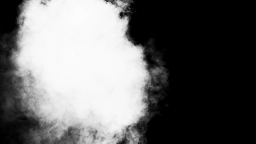 Low density smoke puff spreading concentrically outwards / Gunshot smoke / Shockwave smoke. Separated on pure black background, contains alpha channel. | Shutterstock HD Video #1057407574