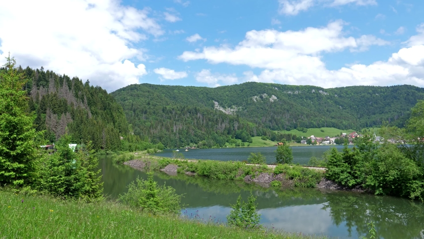 Time Lapse - A view of the village of Dedinky in Slovakia | Shutterstock HD Video #1057407805