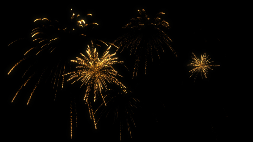 Gold firework particle spark random and overlapping animation with 3d rendering include alpha path. | Shutterstock HD Video #1057407919