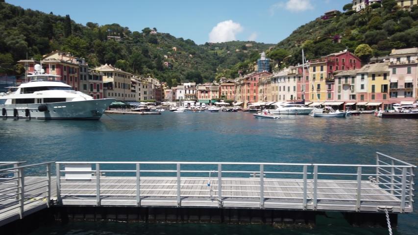 Portofino Marina Liguria Italy Panorama | Shutterstock HD Video #1057408117