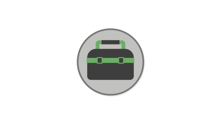 Tool Box Flat Animated Icon. 4k Animated Icon to Improve Project and Explainer Video | Shutterstock HD Video #1057417168