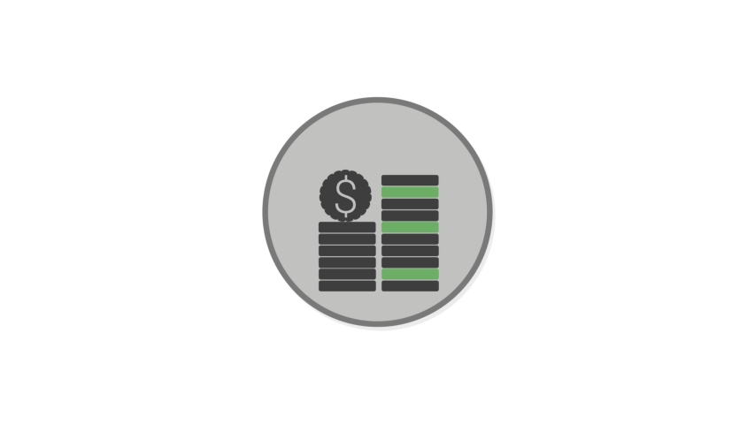 Coins Flat Animated Icon. 4k Animated Finance Icon to Improve Project and Explainer Video | Shutterstock HD Video #1057417279