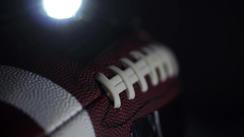 Cinematic American Football In Dark Stadium Back-lighting, 4K.