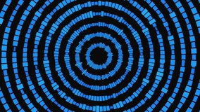 abstract blue digital equalizer, video of sound wave pattern element loop HD