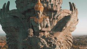 Bali's Most Iconic Landmark Hindu God Garuda Wisnu Kencana statue also GWK statue is a 122-meter tall statue located in Garuda Wisnu Kencana Cultural Park, Bali, Indonesia.