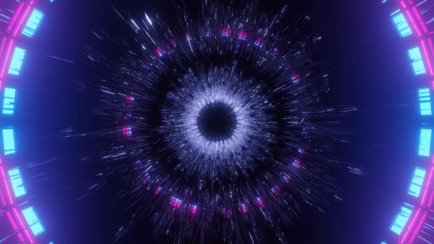 Rotating Light Tunnel in Dark Space 4k uhd 3d rendering vj loop   Shutterstock HD Video #1057532350