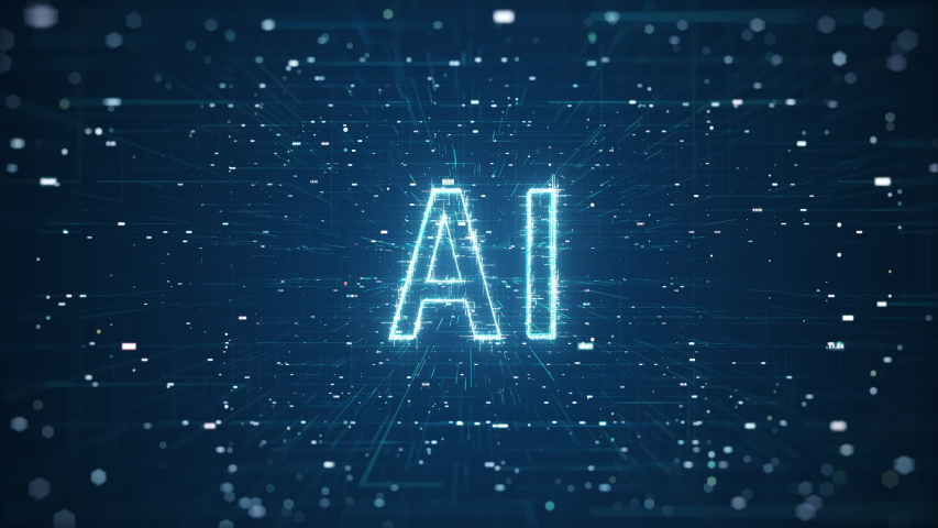 Technology Artificial intelligence (AI) brain animation digital data concept. Big Data Flow Analysis. Deep Learning Modern Technologies. Futuristic Cyber Technology Innovation. Fast digital network. Royalty-Free Stock Footage #1057614907