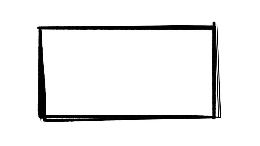 Hand drawn cartoon frame, animated border design | Shutterstock HD Video #1057626748