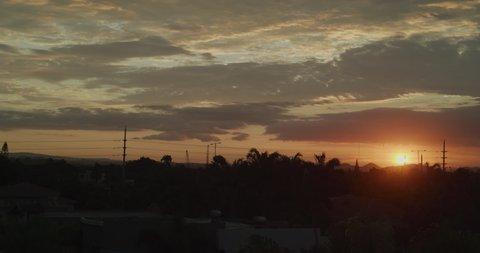 Sunset with cloudy sky, Ecuador