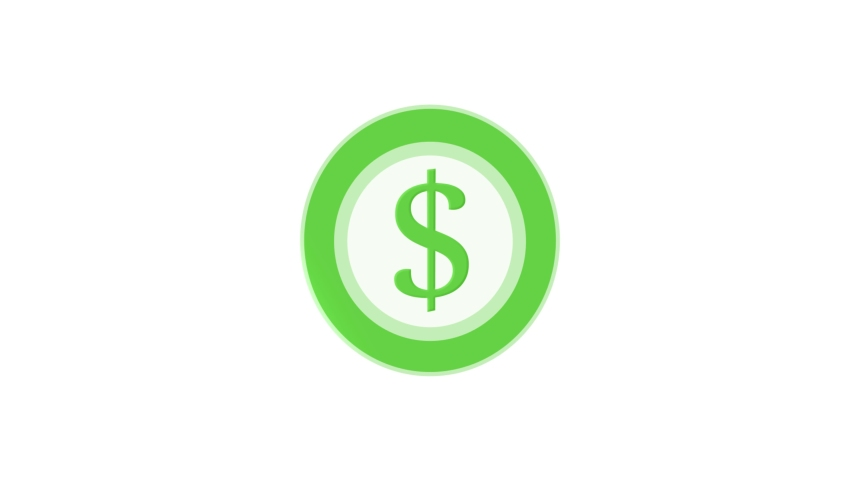 Dollar Coin Flat Animated Icon. 4k Animated Money Icon to Improve Project and Explainer Video | Shutterstock HD Video #1057662262