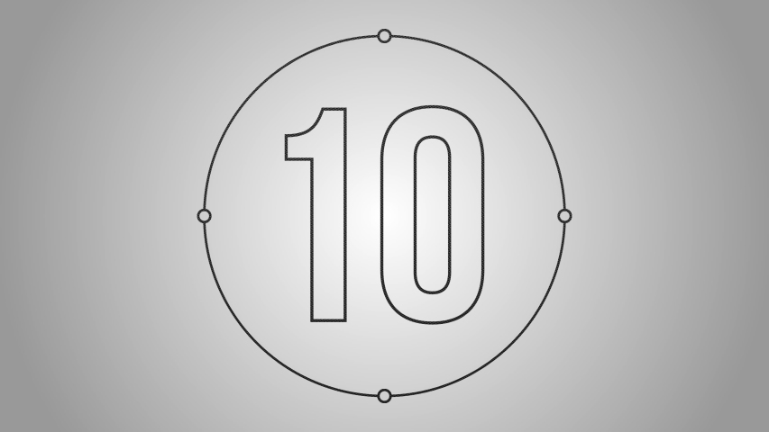 A 10 seconds countdown introduction with beautiful slick graphics   Shutterstock HD Video #1057665724