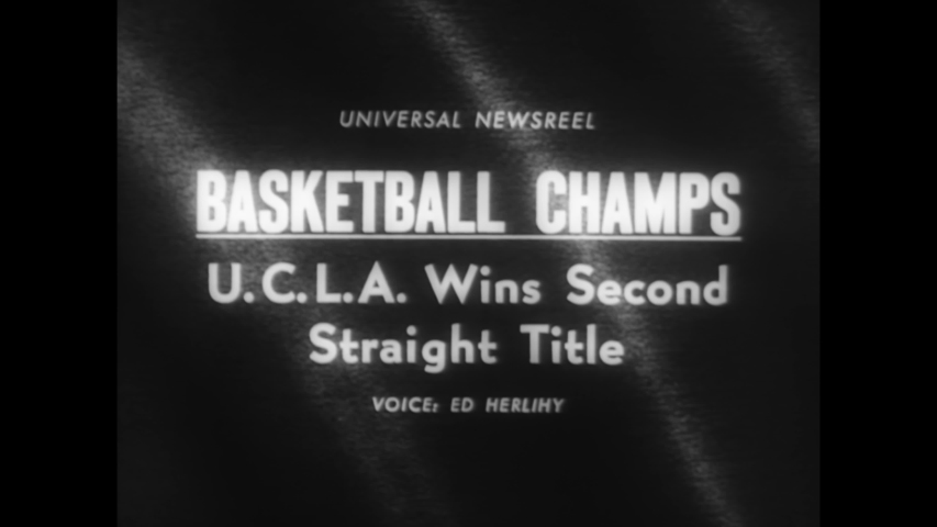CIRCA 1965 - Gail Goodrich leads the UCLA Bruins in an NCAA basketball playoff against the Michigan Wolverines.