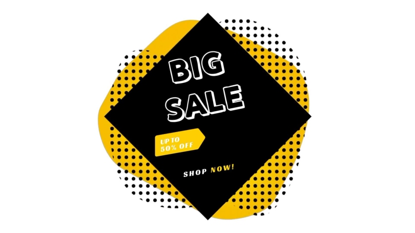 SUPER SALE special up to 60% OFF banner. Sale promo banner special offer sticker. Hot sale campaign price tag for discount clearance. Big sale online shopping. Motion HD footage