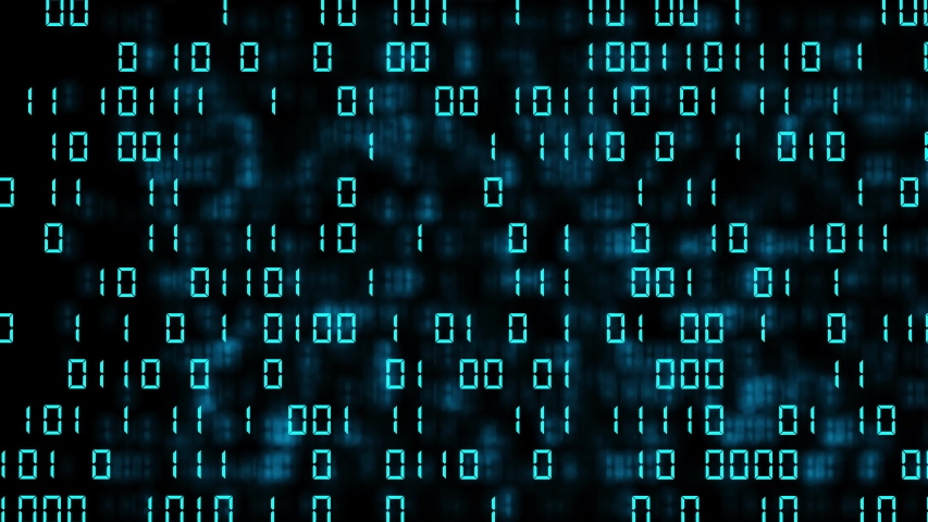 Abstract blue binary code background. Futuristic cyberspace. Concept of mining cryptocurrency and bitcoin btc. Web developer. Digital computer code. Programming. Coding. Royalty-Free Stock Footage #1057765210