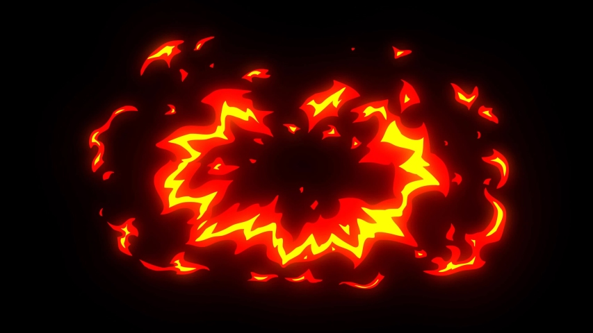 Cartoon fire elements pack. 4k flash fx fire animation pack with alpha layer | Shutterstock HD Video #1057814857