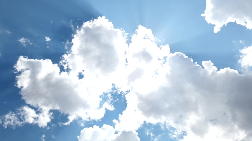 Blue Sky and Clouds, Slow Motion Clouds background Royalty-Free Stock Footage #1057846153