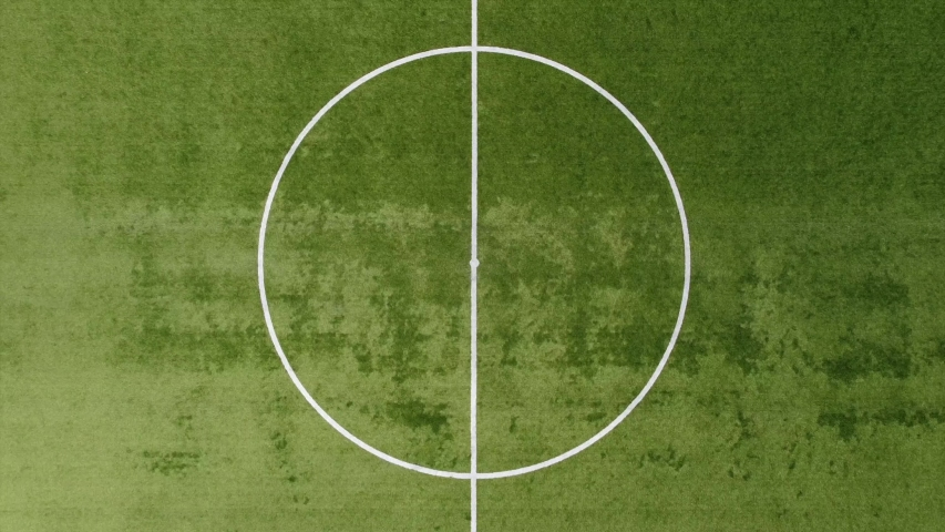 Drone aerial view of empty soccer field without players during Covid-19 Coronavirus outbreak lockdown  Royalty-Free Stock Footage #1057850161