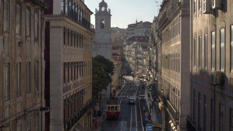 Lisbon city_ tram public transportation