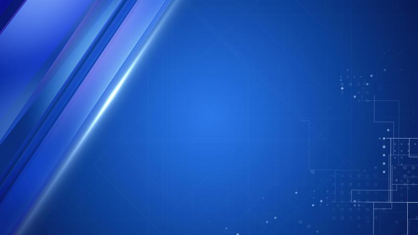 Blue broadcast background. Virtual Studio Set Background.