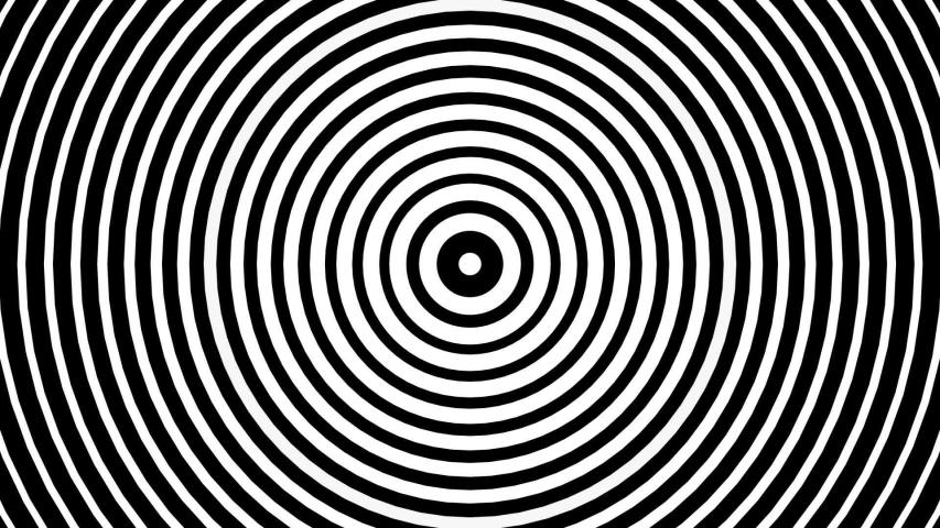 Hypnotic optical illusion black and white circles