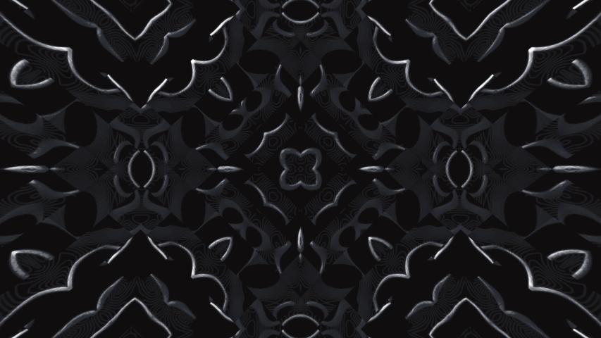 Beautiful and elegant gothic kaleidoscopic rosace, fractal art,  | Shutterstock HD Video #1057916572