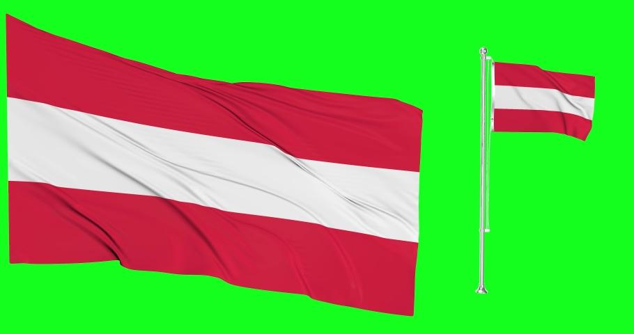 Austria green screen two flags green screen waving green screen Austria austrian flagpole austrian waving austrian Austria national flagpole national  austrian flags waving flagpole Austria animation