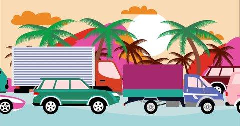 23+ Traffic Jam Cartoon Background