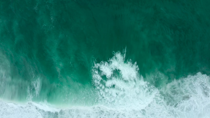 Top view of big sea waves during a cloudy day Royalty-Free Stock Footage #1057949740