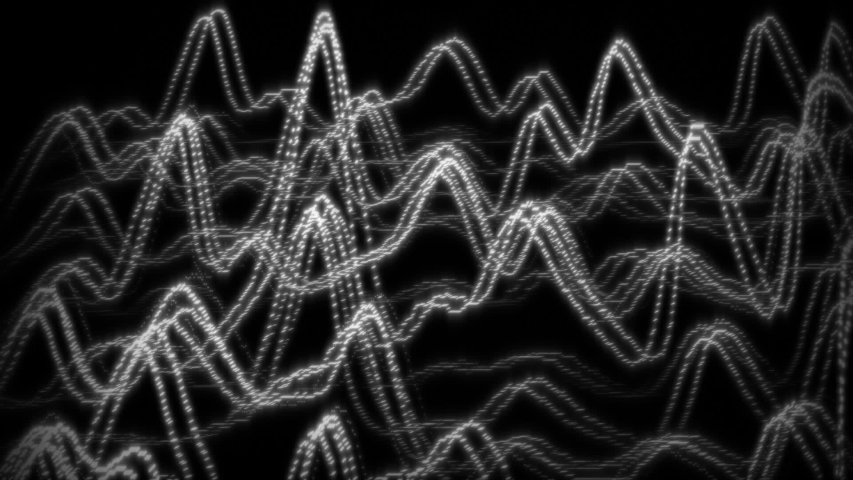 Classical Audio Visualiser Form - Frequency Signals From Synth Wave Era