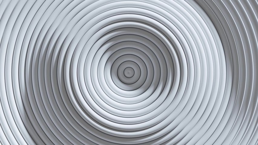 Abstract pattern of circles with the effect of displacement. White clean rings animation. Loop 3d render 4K | Shutterstock HD Video #1058003395
