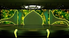 Green and Yellow  colourful background VJ Lights for TV Program with Entertaiment programme theme. seamless loopable HD video.