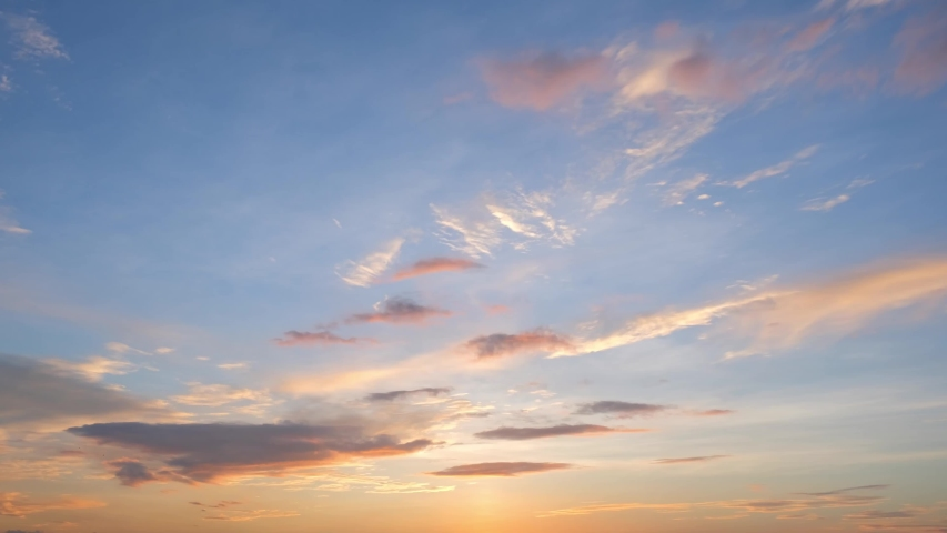 4K Time lapse, beautiful sky with clouds background, Sky with clouds weather nature cloud blue, Blue sky with clouds and sun, Clouds At Sunrise. | Shutterstock HD Video #1058053192