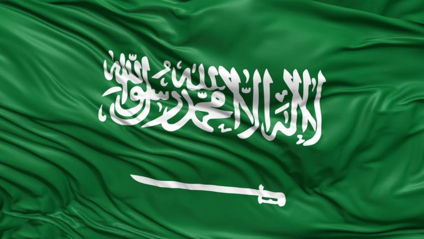Saudi arabia waving  animated flag