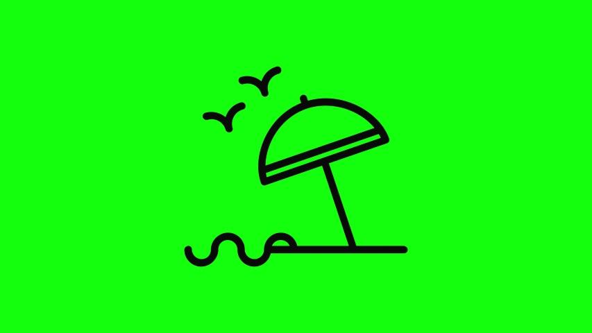 Transparent beach umbrella holiday umbrella icon beach sea holidays sea vacation sea beach flat icon holidays vacation flat beach green screen holidays green screen vacation green screen 10 Animations