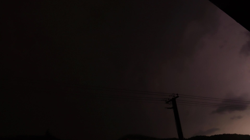 Time-lapse video, lightning in the sky.   Shutterstock HD Video #1058205205