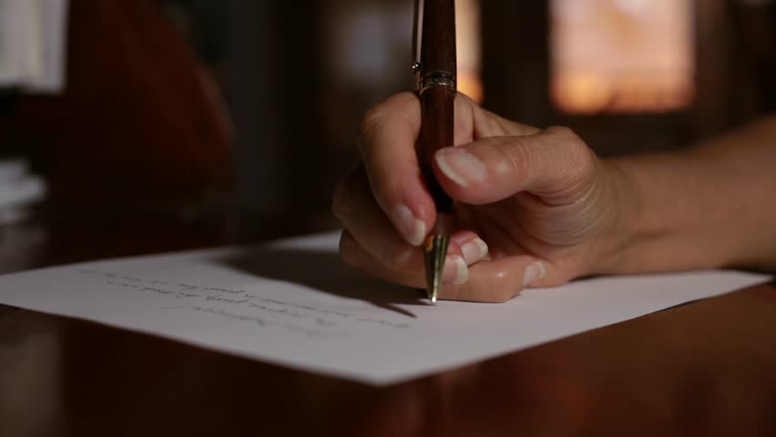 A Woman Writing a Letter Stock Footage Video (100% Royalty-free) 10582112 |  Shutterstock