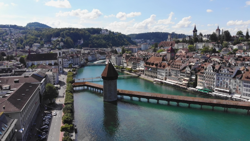 Chapel Bridge in the city of Lucerne - travel photography