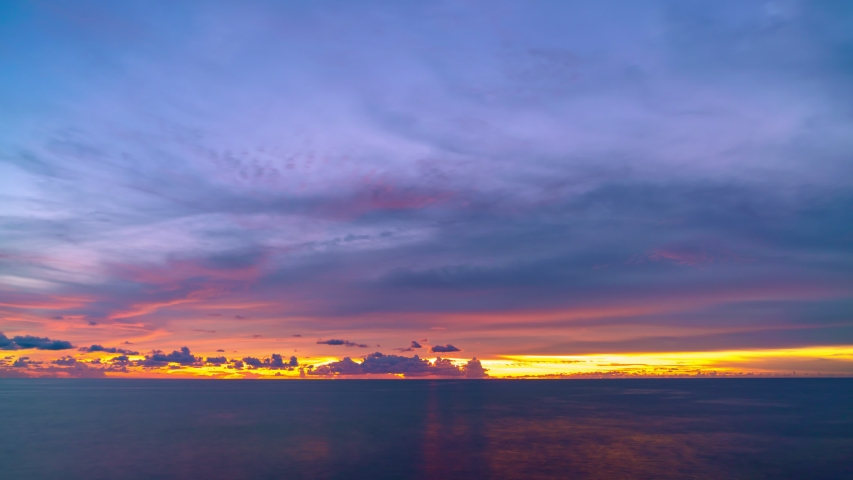 4K Time lapse of Majestic sunset or sunrise landscape Amazing light of nature cloudscape sky and Clouds moving away rolling 4k colorful dark sunset clouds Footage timelapse on November 9,2020   Shutterstock HD Video #1058264647