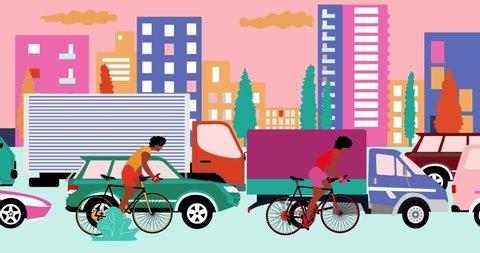 Traffic Jam Cartoon Stock Video Footage 4k And Hd Video Clips Shutterstock