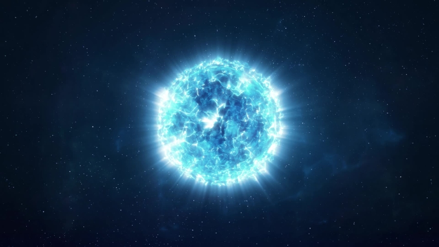 Approaching a Bright Blue Star in the Depths of Space   Shutterstock HD Video #1058284378
