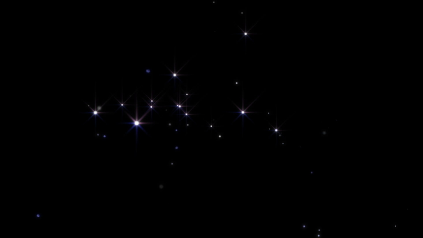 Twinkling stars background. Stars shimmering in air. Dust particles fly in slow motion in the air. Loop animation | Shutterstock HD Video #1058301070