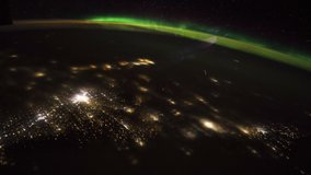 ISS Time-lapse Video of Earth seen from the International Space Station with aurora and meteor shower at night , Time Lapse 4K. Images courtesy of NASA.