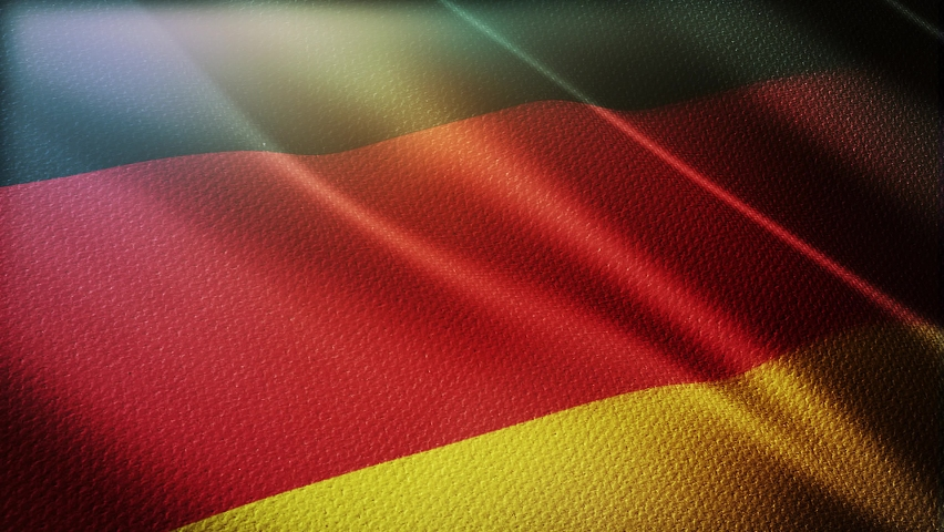 Germany flag is waving 3D animation. Germany  flag waving in the wind. National flag of Germany . flag seamless loop animation.