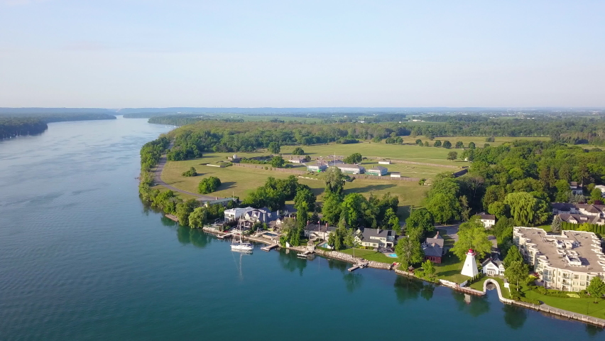 Aerial view of the Niagara-on-the-Lake waterfront