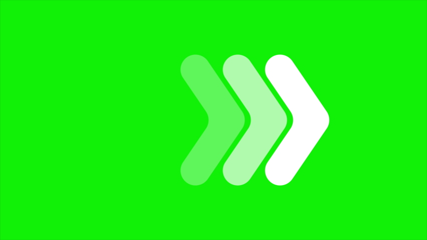 Arrows animation on green background,4k video. | Shutterstock HD Video #1058417575