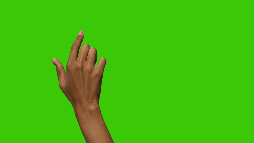 Touch Screen Finger Gestures of Black Female Woman with 2 versions of amplitudes to fit smartphone and tablets screens perfectly.