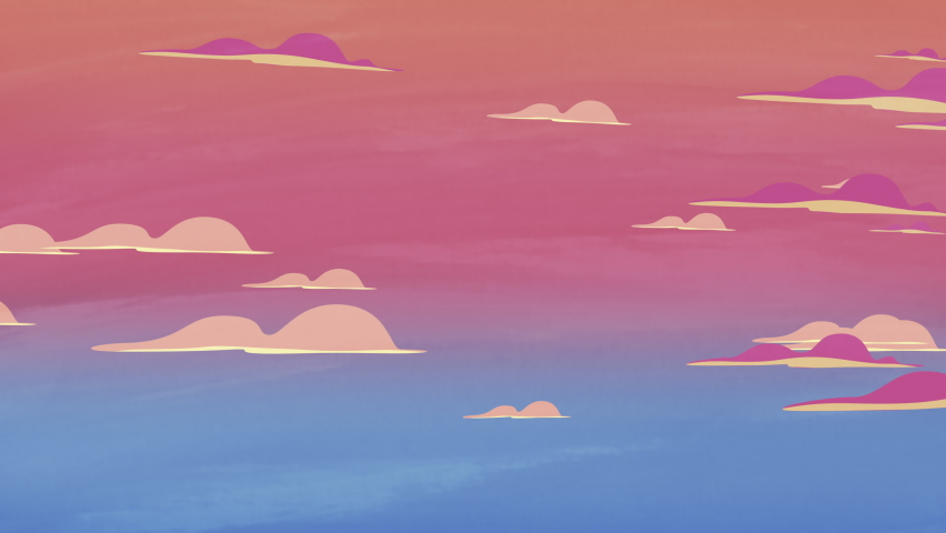 Cartoon animation background with motion clouds, abstract backdrop. Luxury and elegant dynamic animation footage of cartoon or kids theme   Shutterstock HD Video #1058485480