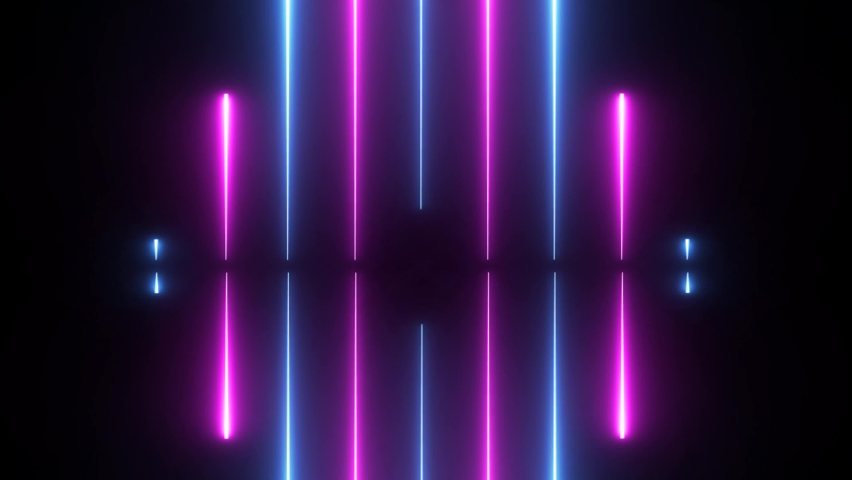 NEON Lights motion loops square circular motion draws and beautiful lights background linear lamp. SERIES 1-4 Royalty-Free Stock Footage #1058501866