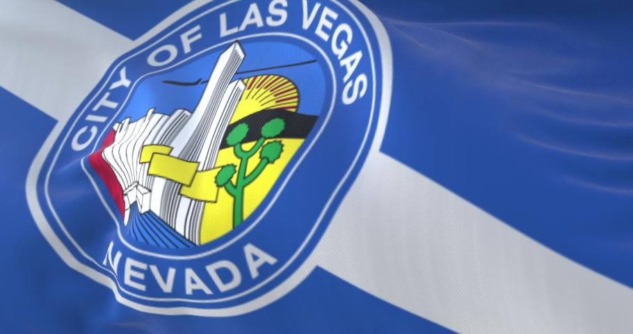 Flag of Las Vegas, city of United States of America - loop | Shutterstock HD Video #1058515927