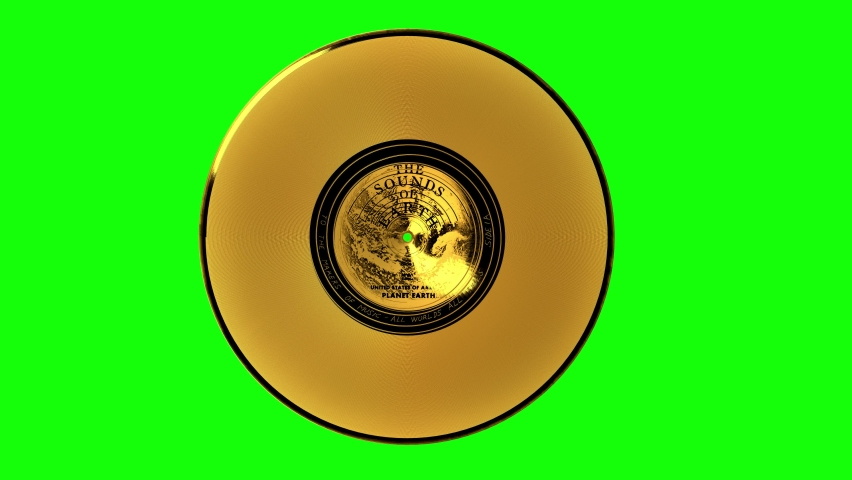 Voyager Golden Record green screen turntable. The Voyager Golden Record is a phonograph records that were included aboard both Voyager spacecrafts launched in 1977.
